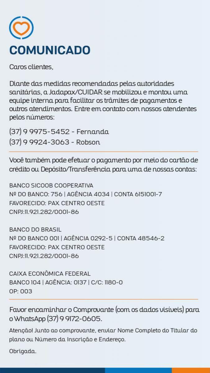 Comunicado Jadapax
